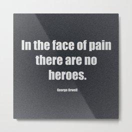 Face Of Pain Metal Print