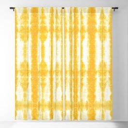 Yellow Tiki Shibori Blackout Curtain