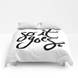 so it goes - kurt vonnegut Comforters