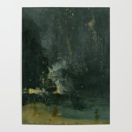 James Abbott McNeill Whistler Nocturne In Black And Gold Poster