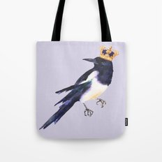 Magpie painting, watercolor birds, bird lover gift, magpie pillow Tote Bag