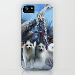 Snow Queen Snowflakes by K.M. Shea book cover iPhone Case