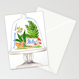 """Hello"" Terrarium Stationery Cards"