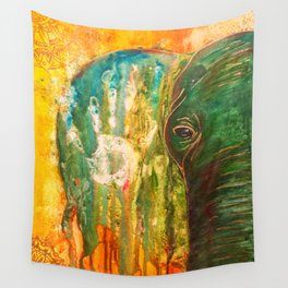 Elephant Painting Wall Tapestry