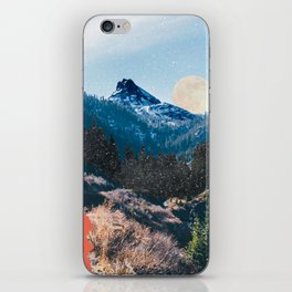 1960's Style Mountain Collage iPhone Skin