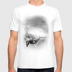 The Whale Mens Fitted Tee White MEDIUM