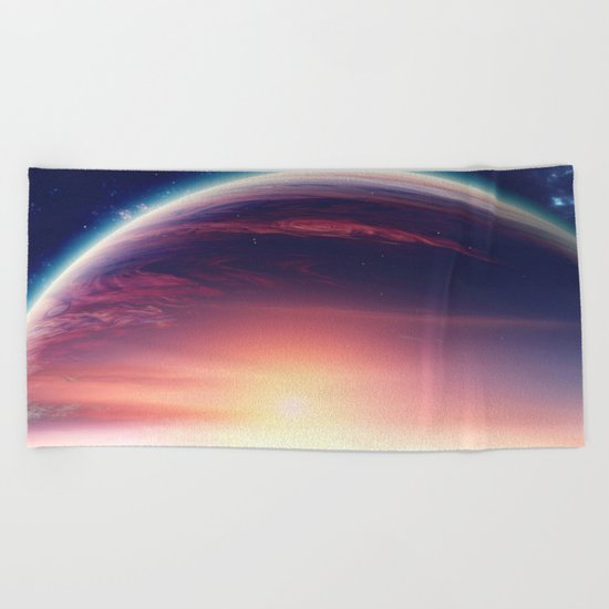 Jupiterian sunset Beach Towel