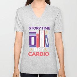 Story Teller Storybook Reader Book Gift Unisex V-Neck