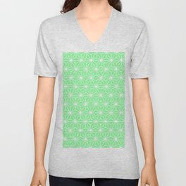 Pastel Green Flowers and Florals Isosceles Triangle Unisex V-Neck