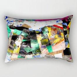 3-eyed fish collage Rectangular Pillow