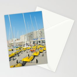 Sand yachting land yachting Stationery Cards