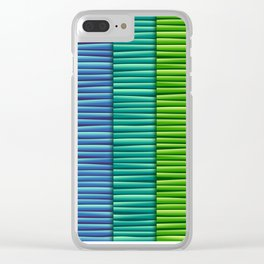 Rainbow Striped Pattern Clear iPhone Case