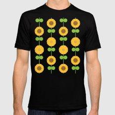 Kawaii Sunflowers MEDIUM Mens Fitted Tee Black