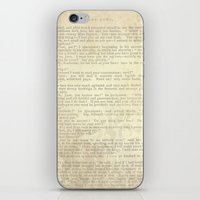 jane eyre iPhone & iPod Skins featuring Jane Eyre, Mr. Rochester Proposal by Charlotte Bronte by ForgottenCotton