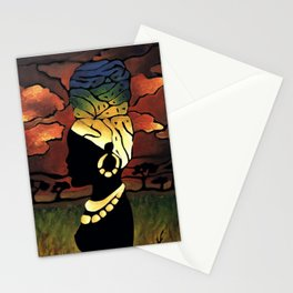 African Head-wrap Stationery Cards