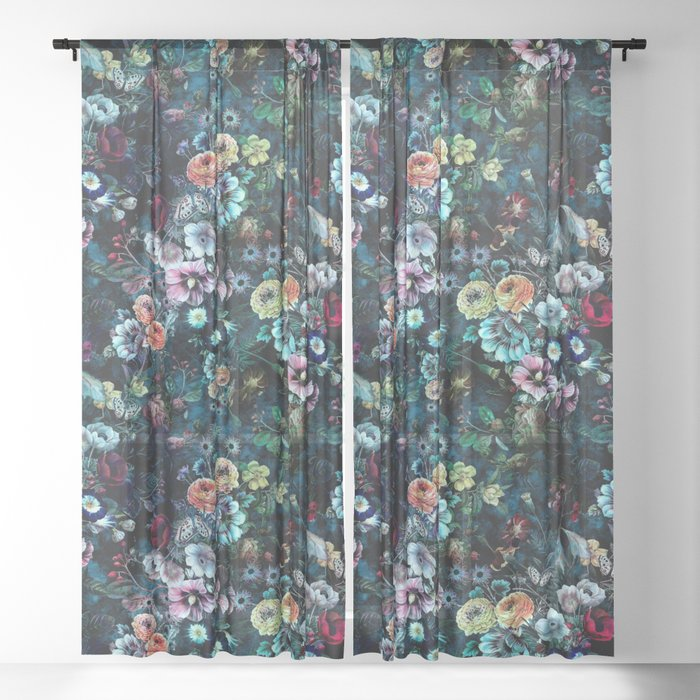 Night Garden Sheer Curtain