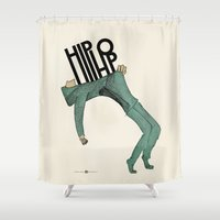 hip hop Shower Curtains featuring Hip-Hop by Mariana Baldaia
