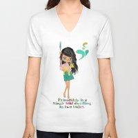 friendship V-neck T-shirts featuring friendship by Elisandra