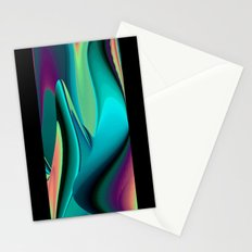 Futuristic, Abstract Rainbowart 6 Stationery Cards