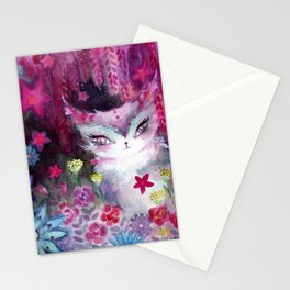 Gala Cat Tending the Garden Stationery Cards