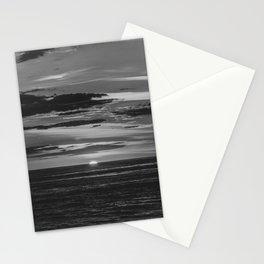 Sunset North Sea Denmark Bjerregard Beach 10 bw Stationery Cards