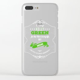 Hero in My Life My Mom MS Awareness Clear iPhone Case