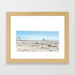 Marblehead Beach Framed Art Print