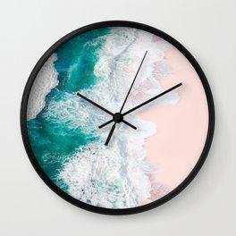 Pink Sand Beach Wall Clock