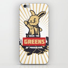 Seize the GREENS of production iPhone Skin