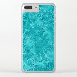 Frozen Leaves 21 Clear iPhone Case