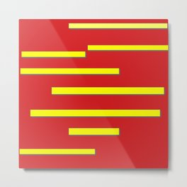 Bright Red and Bright Yellow Graphic Design Metal Print