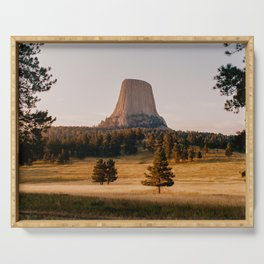 Devil's Tower, Wyoming - shot on film Serving Tray