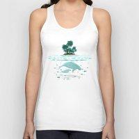 manatee Tank Tops featuring Manatee Island by Lidra