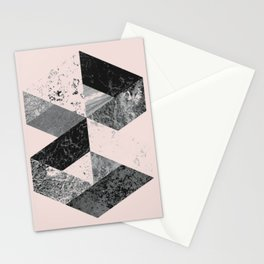 Geometric modern abstract wall art print Stationery Cards