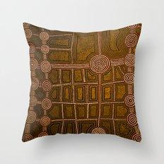 Aboriginal background Throw Pillow