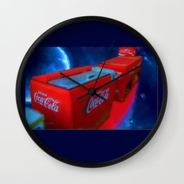 Softdrinks in Space Painting Wall Clock