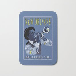 New Orleans welcomes you Bath Mat