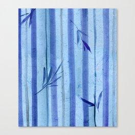 stripes blue rondo Canvas Print