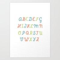 ABC...RGB... Art Print