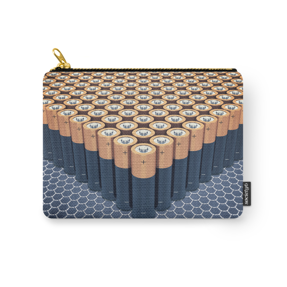 Batteries Carry-All Pouch by nobeastsofierce