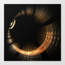 Fractal Solar Eclipse Canvas Print