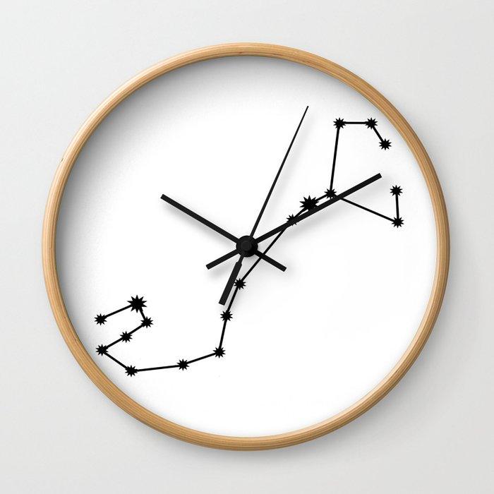 Scorpio Star Sign Black & White Wall Clock