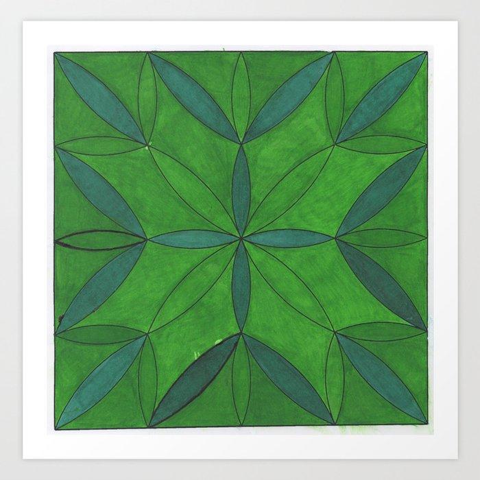 Mandala In the Forest Art Print