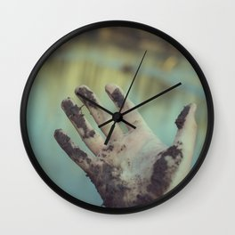 dirty hand Wall Clock