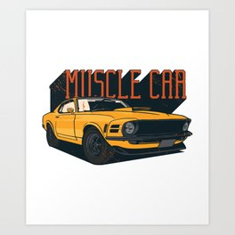 Car Vintage Muscle Car Art Print
