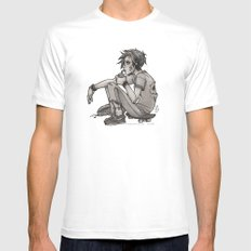 Downtime Mens Fitted Tee MEDIUM White