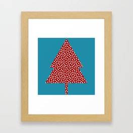 Christmas tree blue Framed Art Print