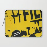2001 Laptop Sleeves featuring hfi SIGN 2001 by David Hinnebusch