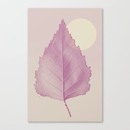 Delicate Leave Canvas Print