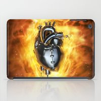 heavy metal iPad Cases featuring Heavy metal heart by GrandeDuc